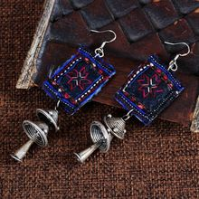 Alibaba Main Promotion Jewelry Long Rooster Tribal Earrings