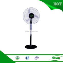 "factory supply indoor use solar fan dc 18""stand fan parts with round base"