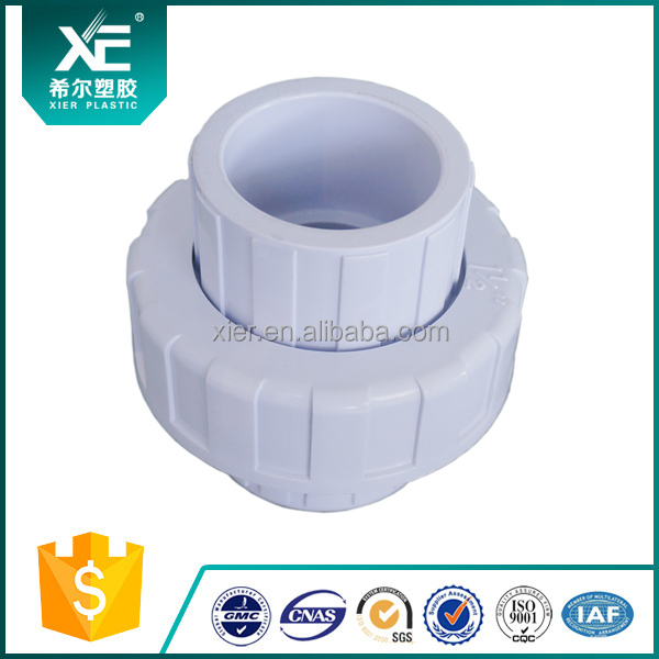 """XE"" Plastic Fittings for Irrigation - PVC Union Single Plain and Screwed"