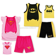 Children's clothing wholesale fashion cool summer Superman cartoon cute children suit suit for children