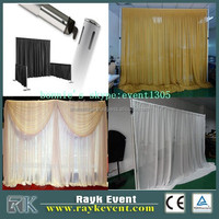 ceiling drape pipe and drape telescopic portable upright crossbar