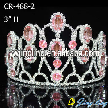 2018 Hot Pink Tiara Beauty Custom Pageant Crowns