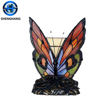 Designer Table mosaic Lamps wholesale ,beautiful Stained Glass Butterfly Lamp wholesale