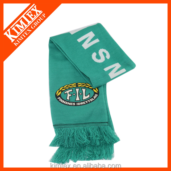 Best selling Acrylic Knitted Football Scarf