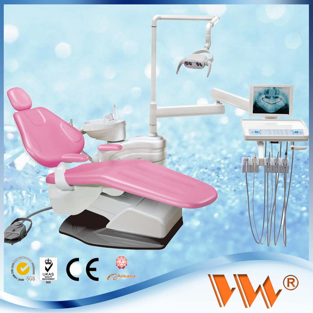 Full set led curing light dental unit with high volume suction