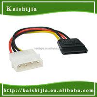 4Pin IDE molex to SATA 15Pin power adapter cable