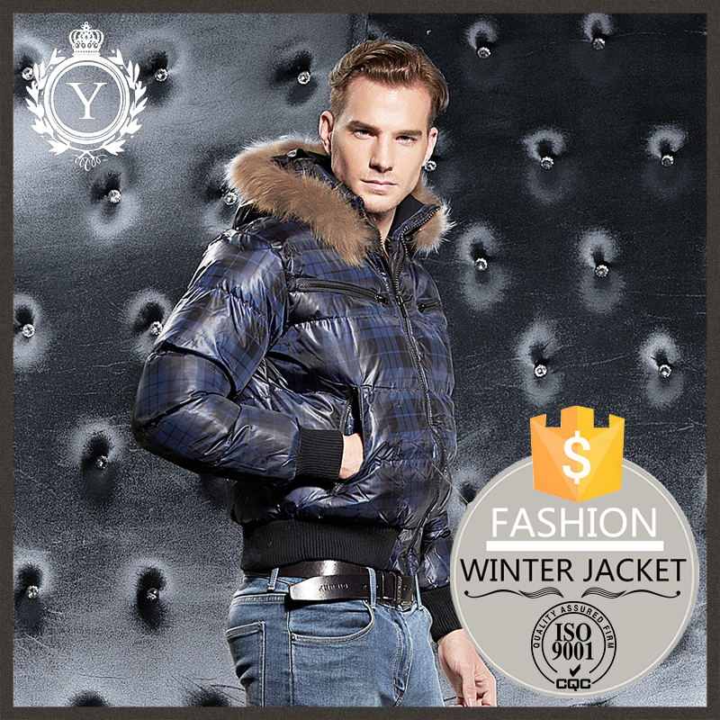 2016 COUTUDI fashion fur hooded snow blue leather bomber jacket china factory oem clothing <strong>manufacturing</strong>