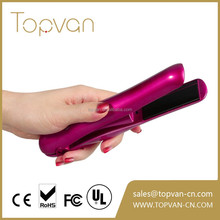 Led Cordless Rechargeable Battery Mini Travel usb powered hair straightener flat iron