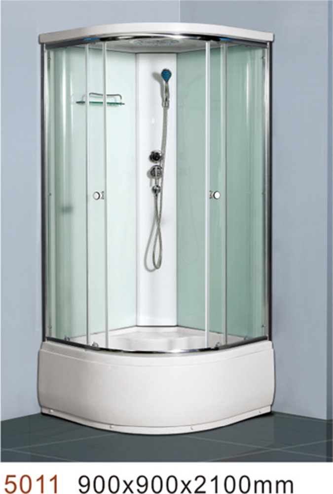 Steam glass shower room with massage function for adult