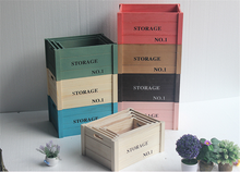Home decor wooden book storage crate