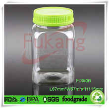 Custom Honey packaging plastic bottles/wide mouth jar with screw seal lid
