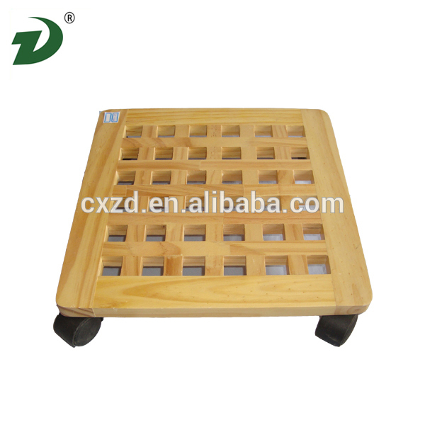 2016 Manufacture wood serving tray with wheel