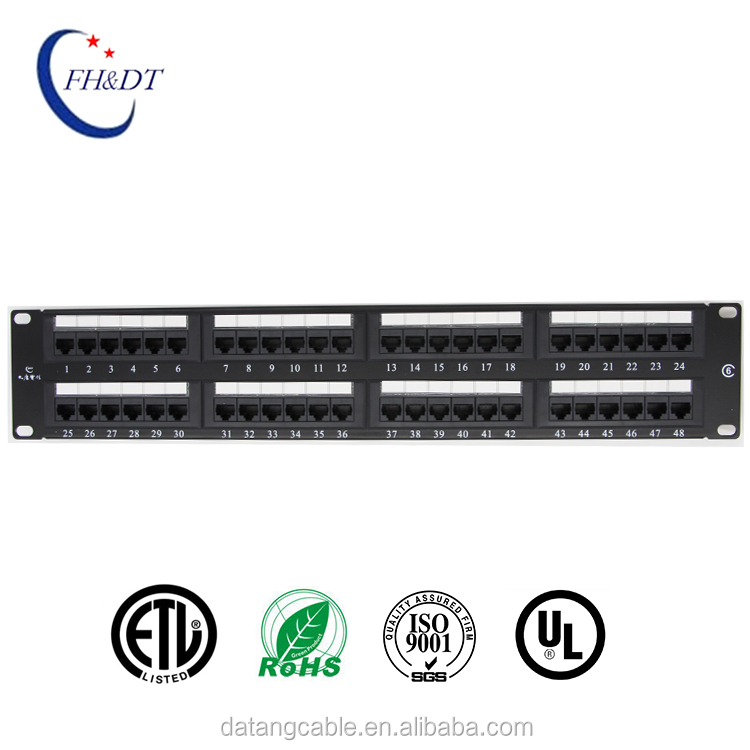48 Ports CAT.6 Modular Unshielded Patch Panel, 2U
