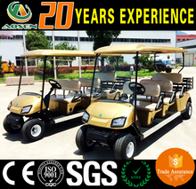 4KW 6 Seater Electric Power Sightseeing Car with Customized Rear Basket/,golf cart