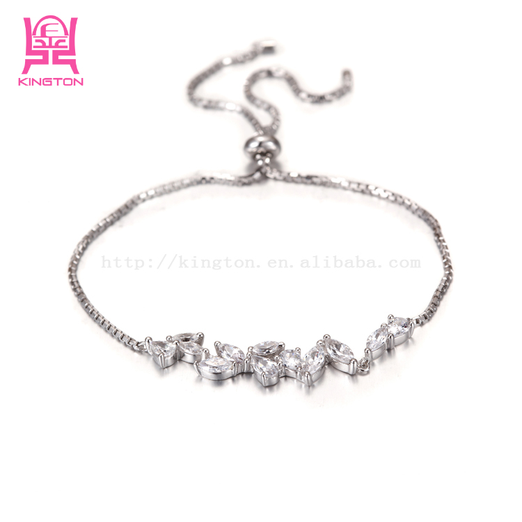 925 sterling silver with white zircon bracelet for women