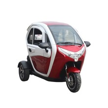 Hot selling new design closed body electric tricycle with passenger seat