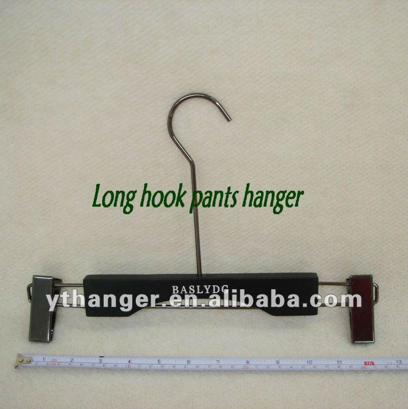 FW-134 wooden clips pants hanger for clothes store use