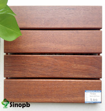 Merbau Solid Wood Flooring for Outdoor Cheap Wood Deck Tile with Plastic Base Easy Install Eco-friendly Made in Xiamen China