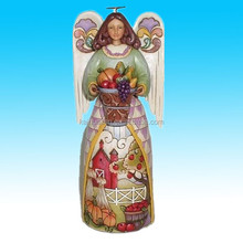 christmas beauty girl angel polyresin crafts for sale