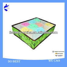 Printing 600*300D Pretty Fabric Sock Underwar Storage Containers Box