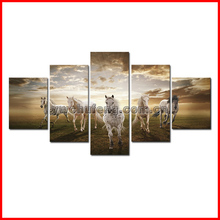 HD Canvas Print home decor wall art painting Picture-Horse 5PC Noframe