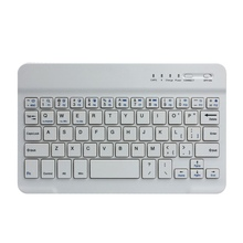 Wholesale Price Slim Aluminum Wireless Ultra Mini Bluetooth Keyboard rohs White Black For Windows Android IOS PC