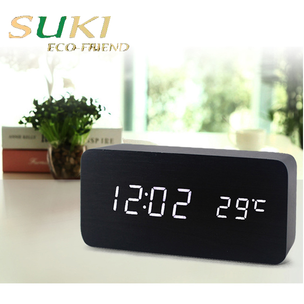 China wholesale wood small outdoor led digital clock