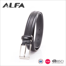 Alfa 2017 Alibaba Best Men Belt Web Western Style Black Split Leather Belt For Male