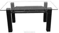 China contemporary rectangular top glass table kitchen furniture