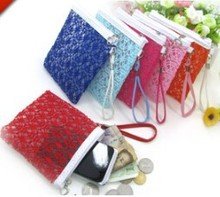 High quality gauze element lace flower fashion purse china wholesale fashion lady wallet