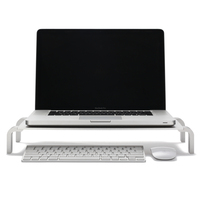 Universal computer laptop LCD monitor stand riser desk with keyboard storage
