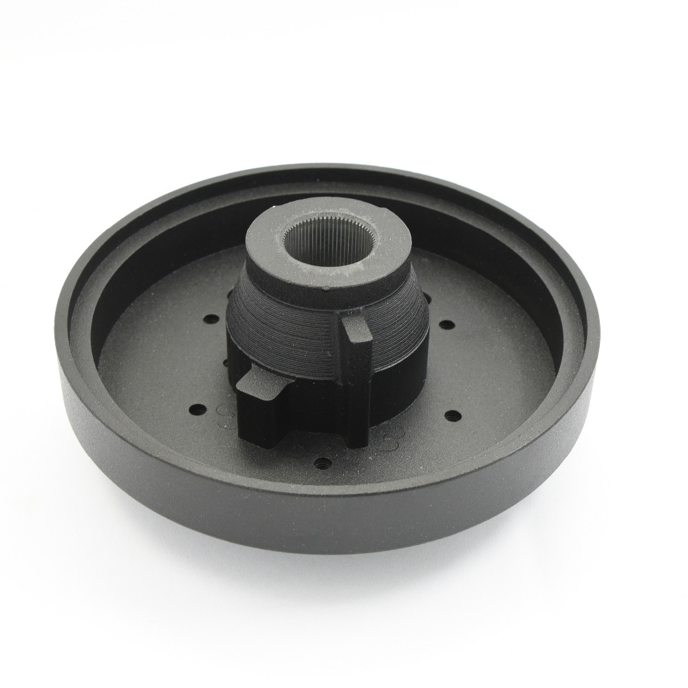 China Billet BMachined Solid 6061 Aluminum Black Steering Wheel Quick Release Short Adapter Hub