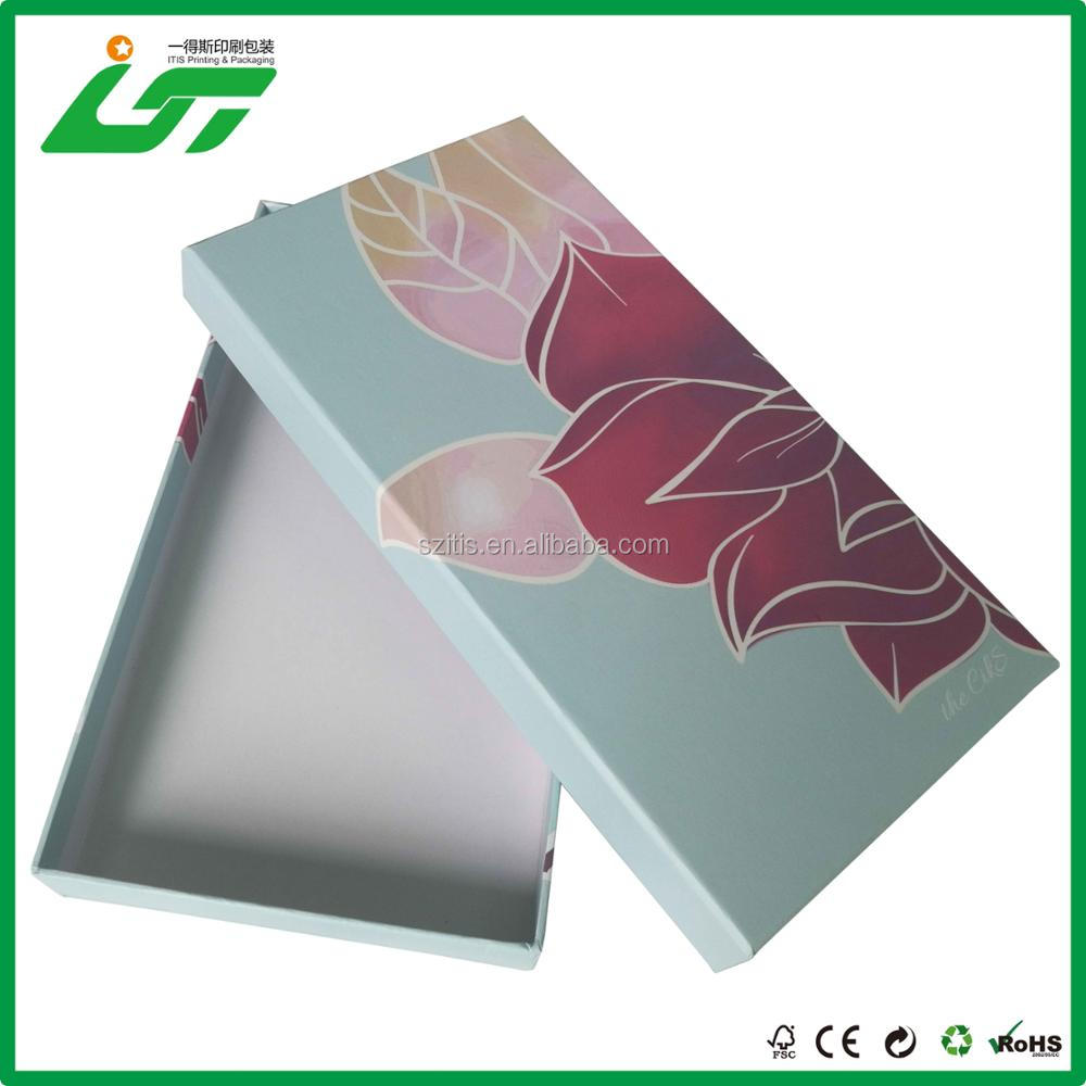 OEM custom with your logo printing cosmetic paper packaging box factory from China