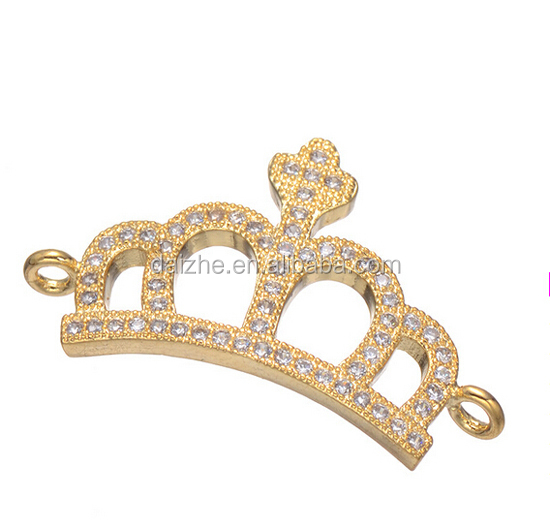 Fashion 925 sterling silver 2015 new arrived cheap factory bracelet crown charm connector