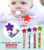 BPA free plastic dummy clip Funny pacifer clips baby pacifer clips