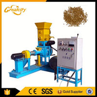 Fish Food Extruder / Floating Fish Feed Pellet Machine For Fish Farming