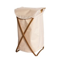 Single Framed X Bamboo Hampe Home Environmentally X Bamboo Rectangular Washable Laundry Hamper