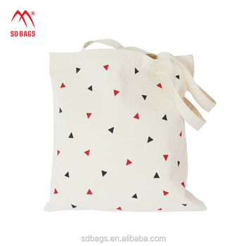Utility promotional Reusable Wholesale Blank printing Cotton Fabric handle bag