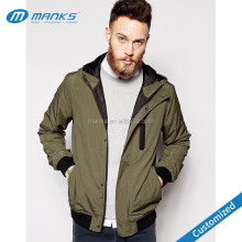2017 New Style Custom Made Mens Nylon Windbreaker Jackets with Hood