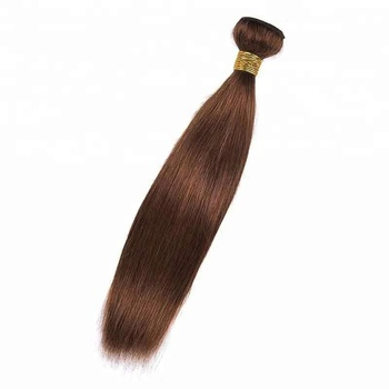 Dark golden brown hair color 4# hair weft