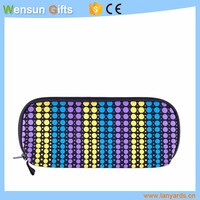 Hot selling promotional neoprene pencil case/ cosmetic bag sublimation printing
