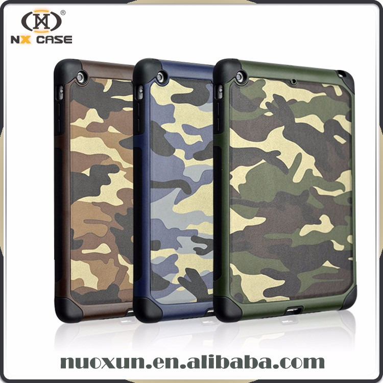 2017 Fashion trendy camouflage design leather for ipad case