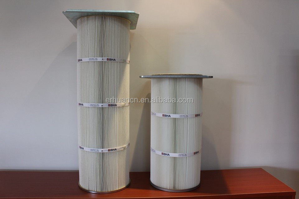Hight quality wood pulp paper air cartridge filter,stainless steel wire mesh cylinder filter