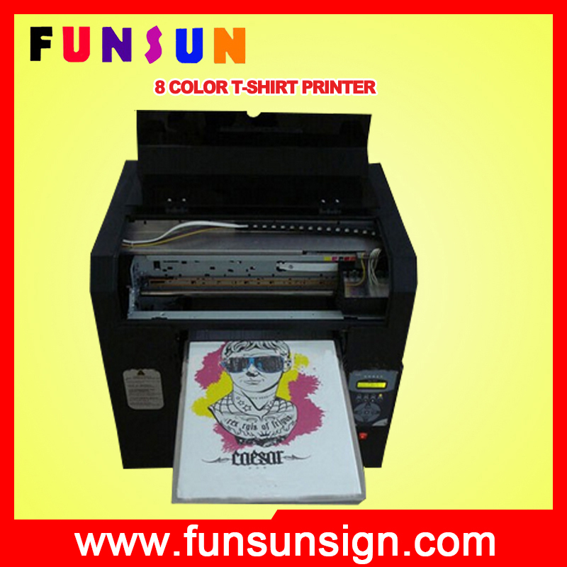 Tshirt a3 flatbed FS-163 inkjet printer with 8 color dx5 head