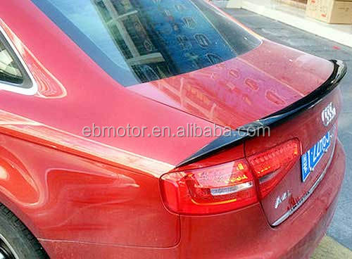 A Style REAL CARBON FIBER TRUNK SPOILER 3PCS/SET Fit For AUDI A4 B8 SEDAN 2008-2012 <strong>A014</strong>