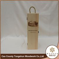 France wood carving crafts 750ml bottle wine packaging box