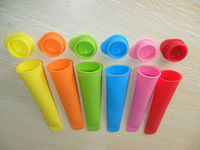 Non-sticky 2013 Practical Silicone silicone popsicle mold / Ice Pop Maker