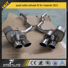 stainless steel quad outlet exhuast for maserati 2013
