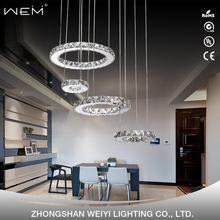 Zhongshan Sale modern luxury indoor decorative led round k9 crystal chandelier for home hotel