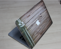 Plastic pc Case with wood grain pattern for laptop